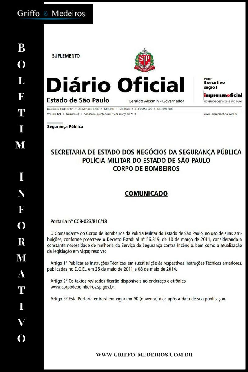 Diário Oficial – Atualização da Legislação para Serviços de Segurança